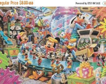 "Disney factory counted Cross Stitch disney pattern disney modern cross stitch needlepoint - 25.57"" x 17.71"" - L881"