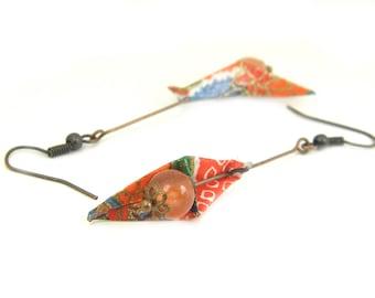 Origami earring Bird