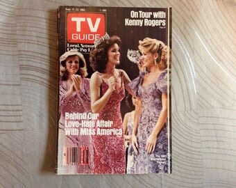 TV Guide,Kenny Rogers, Bob Hope, George Burns, collectable,vintage TV guide,1983 tv guide,tv listings,celebrity articles,good reading,tv