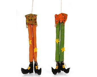 Witch Legs - Set of 2/Wreath Supplies/Halloween Decoration/3113-111