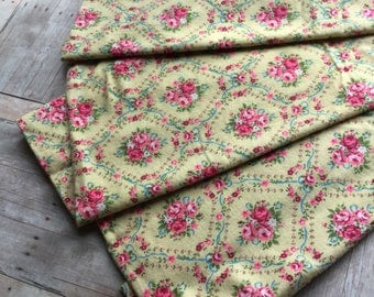 Richly Colored Vintage Flannel - 1 Yard