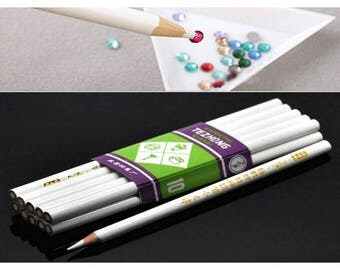 3 pencils catcher rhinestones Micro beads