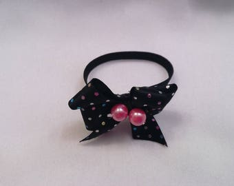 "1 Stretch/Elastic Mini Bow Headband for your own 6"" 7"" 8"" Mini Silicone, Ooak, Polymer Clay Baby, Art Doll, Head Accessory,  FREE SHIPPING"