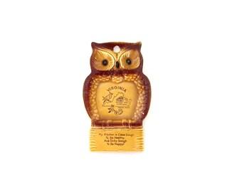 Vintage Virginia Owl Kitchen Decor Kitschy 1970u0027s/1980u0027s Kitchen Wall  Hanging Retro Owl Decor Virginia