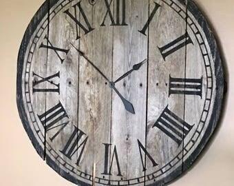 Pallet Wood Wall Clock - Large