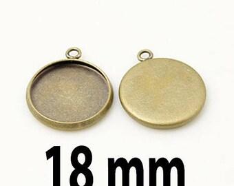 5 blank pendant tray (pr 18mm)