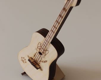 Guitar with a picture in the anime style - miniature replica