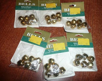 Gold 5/8 Inch Jingle Bells 36 Count