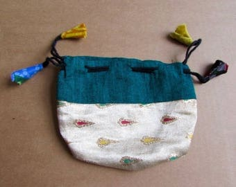 Gift Bags, Jewellery Pouch, Drawstring Pouch, Coin Purse Handmade, Mala Pouches S1.2 - 1 Giftbag