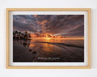 Perfect Fiji. Tropical Island Sunset - Fiji Sunset Photography Wall Art Print