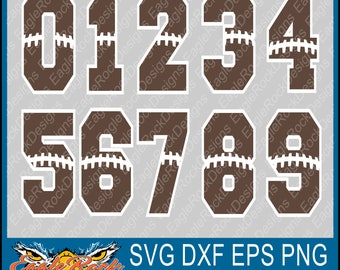 Football Numbers| SVG| DXF| EPS| Png Cut File|  Silhouette| Sports Numbers| Football Mom| Vinyl Cut File| Digital Download