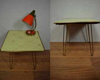 Vintage flower stool, side table, plant stand, coffee table | West Germany | 60s