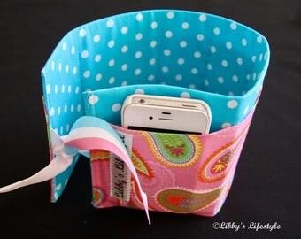 Paisley handbag organiser. Handmade.