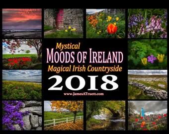 Landscape Calendar, Nature Calendar, 2018 Wall Planner, Wall Calendar 2018, 2018 Calendar, Ireland Calendar, Irish Calendar, Ireland Gift