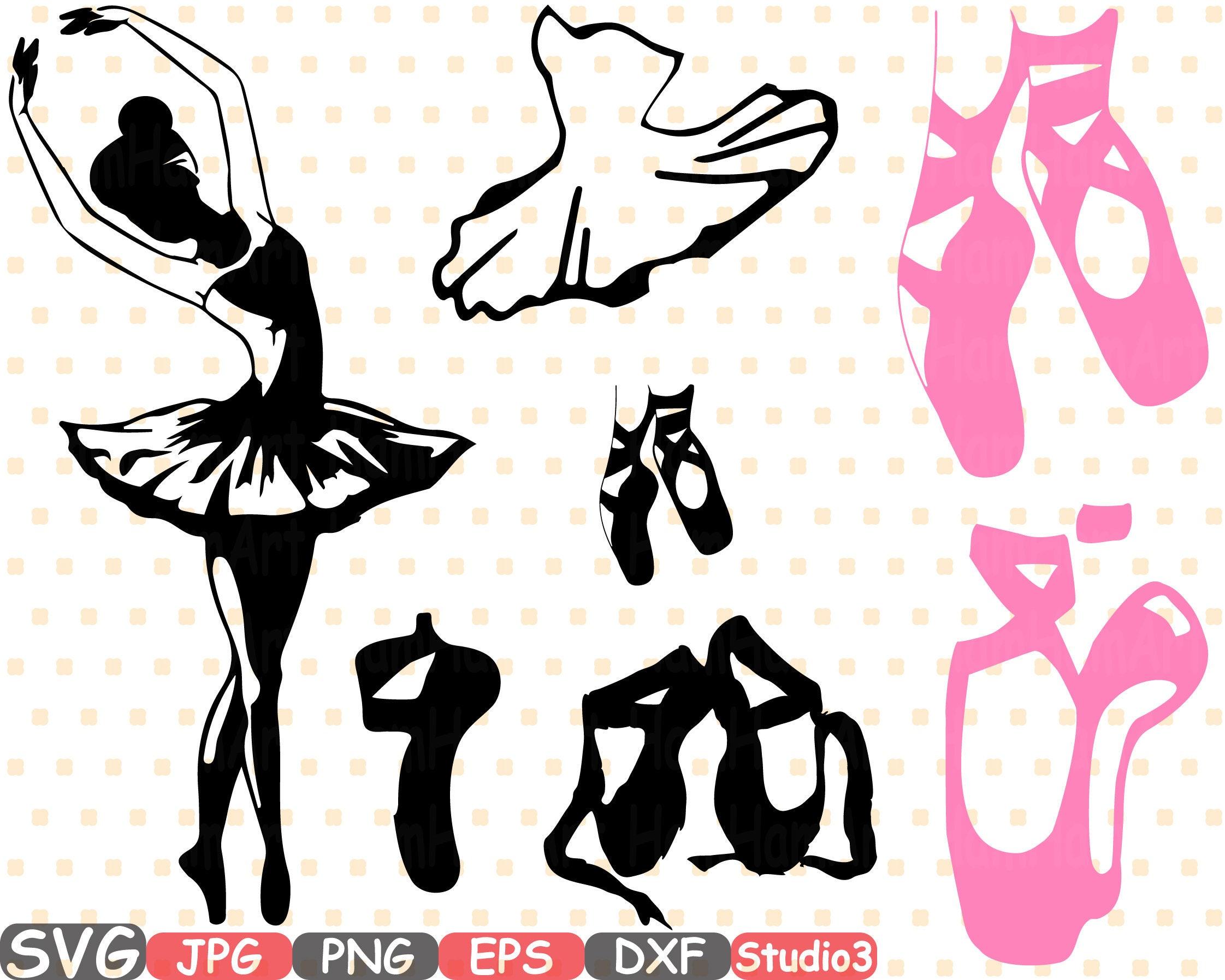 Ballet Bailarina SVG Silueta Corte Archivos Muestra Los Iconos