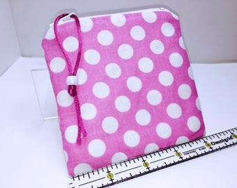 SCREAMING PINK Wet Bag, Quick Dry Design, Zipper Wet Bag, Reusable Feminine Products, Reusable Bag, Makeup Pouch, Waterproof Pouch, PUL