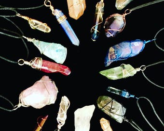 Aura Crystals - Your Choice of Color! - Handcrafted Pendants - Love Potion Magickal Perfumerie