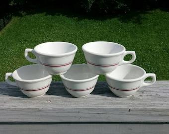 Vintage Syracuse China restaurantware coffee cups set of 5