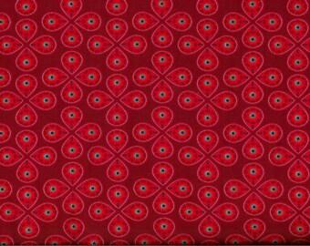 Fuchsia flowers graphic jersey fabric