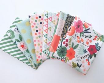 Fat Quarter Bundle On Trend By Jenn Allyson for My Minds Eye for Riley Blake Designs- 7 Fabrics