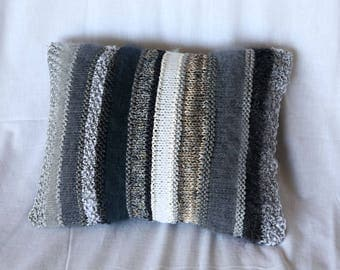 Grey cushion - stripes