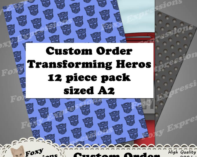 Custom Order - Transforming Heros. Designs include Optimus Prime, Bumble Bee (Buzz), Gears, Autobots and Decepitcons sysbols, etc.