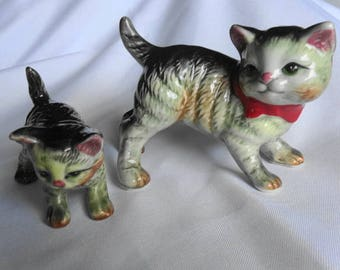 Vintage Momma Cat and Kitten Figurine by Empress Made in Japan