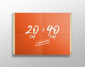 Grip Poster sur mesure de 20 à 40 cm | Porte affiche en bois, Cadre sérigraphie, Cadre poster, Cadre photo, Cintre affiche film
