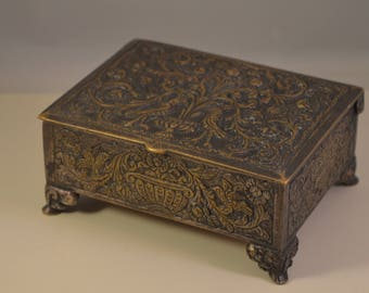 Vintage solid brass, jewelry box,old beauty.....
