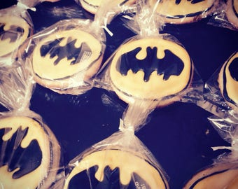 Batman sugar cookies