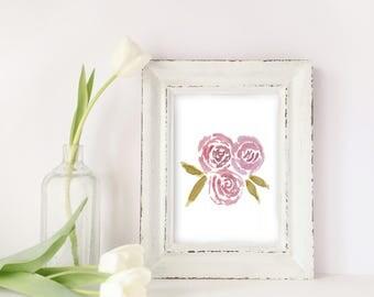 digital prints, downloadable art,floral art, watercolour print, wall art, prints for bed room, birthday gifts, digital download, art
