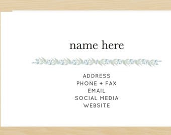 The Sage Business Card