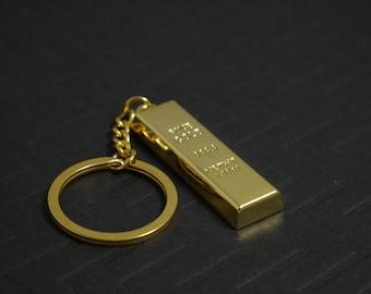 Gold Brick Keychain