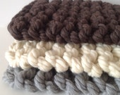 Chunky baby blanket prop Bulky knit newborn photo prop blanket Merino wool prop blanket newborn Chunky prop blanket 15x15 inches 40x40 cm