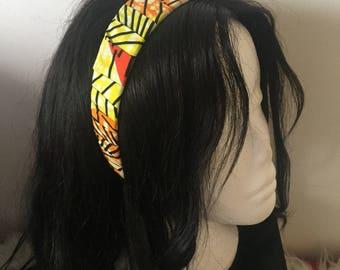 African wax print headband