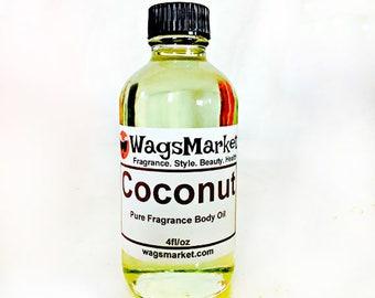 Coconut, Roll On Bottle, 1/3oz, 1oz, Pure Fragrance