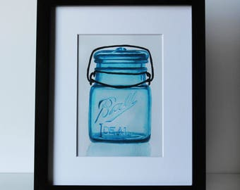 Glass Top Ball Jar Print