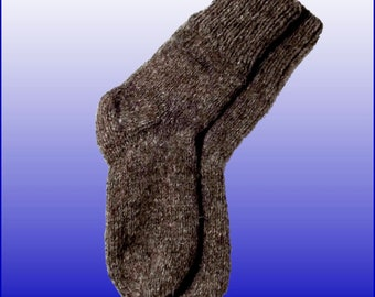 Warm socks, dark grey sheep wool / for fishing, hunting, tourism, work, wear boots or simply at home
