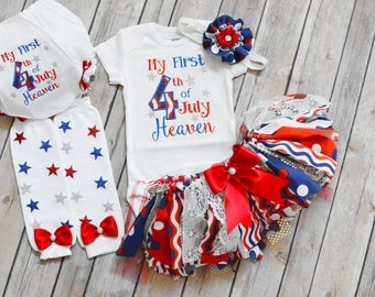 July 4th Baby Girl Outfit,Fourth Of July Baby Girl,Happy Fourth Of July,My First 4th Of July Outfit Girl,little miss america,July 4th outfit