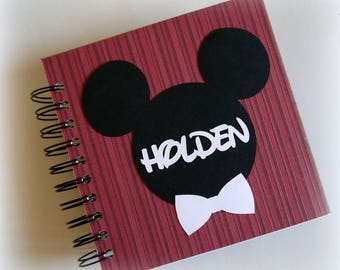 2018 80 pgs Red  PERSONALIZED  Disney Autograph Book Scrapbook Use it as a  Vacation Photo Book 1810 boys fave