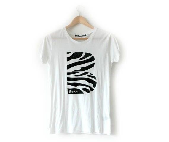 B Side B Zebra graphic tee