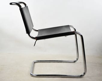 Vintage Spoleto Cantilever Chrome Office Chair for Knoll