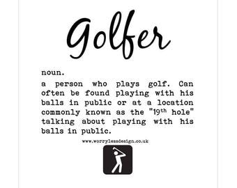 Golfers Card - Golfer - Dictionary Definition