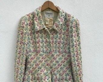 20% OFF Vintage Chanel Boutique Tweed Jacket Made in France Size 40