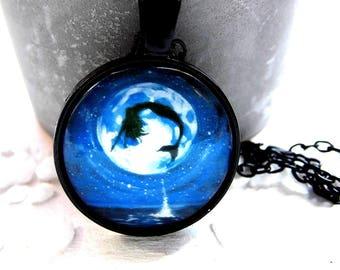 Necklace Mermaid full moon