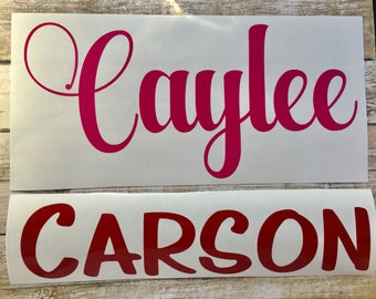 Name Sticker ~ Custom Name Decal ~ Vinyl Decal ~ Lots of Colors & Fonts to Choose ~ School, Office, Tumbler, Mug, Laptop, Water Bottle, Gym
