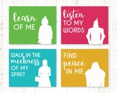 """2018 Mutual Theme """"Peace in Christ"""" Wizard of Oz Character Attribute Posters"""