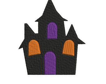 House Halloween Embroidery Design, Machine Embroidery Design, Halloween Digital Embroidery,Haloween embroidery,4x4 embroidery pes,xxx,dst..