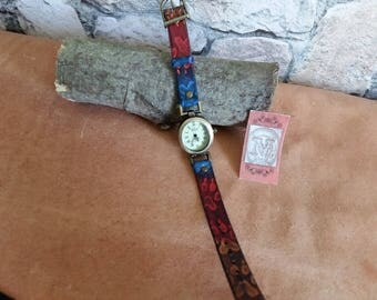 "Watch, bracelet ""paw"" genuine leather"