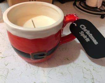 Christmas spirit candle
